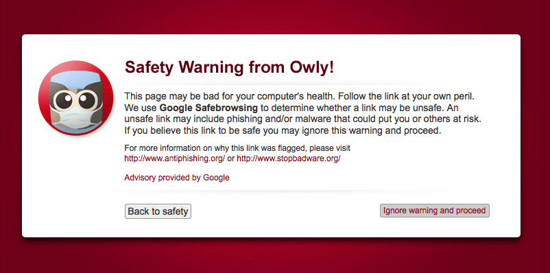 Safety Warning Malware