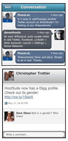iPhone with HootSuite Features