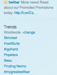 HootSuite Trending on Twitter Worldwide