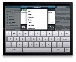 HootSuite iPad Translation