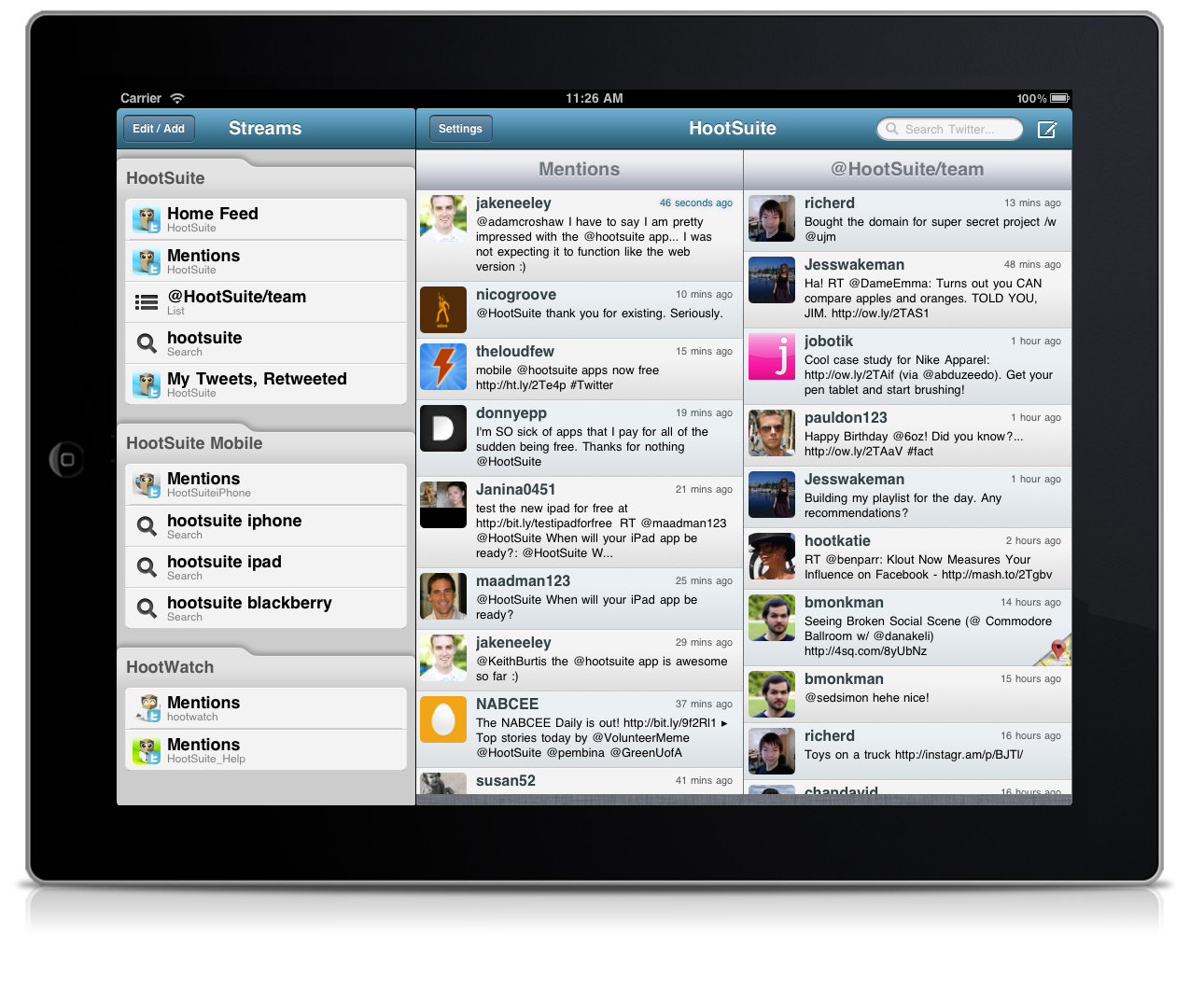Tools for Social Media on iPad