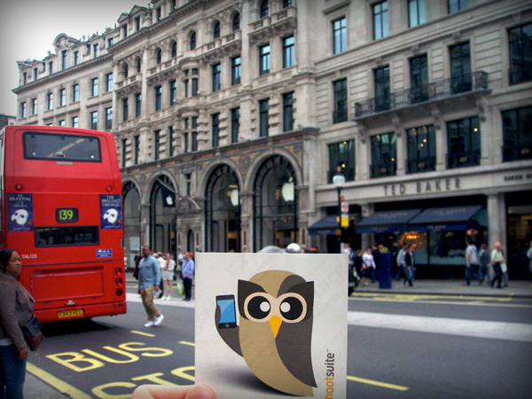 HootSuite's Owly visited London last year
