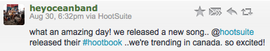 Hey Ocean! and HootSuite