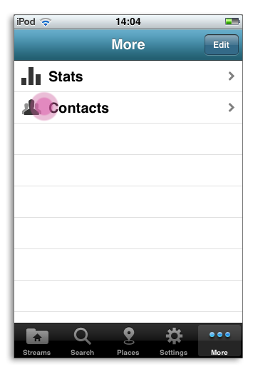 Contacts iPhone HootSuite