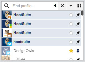 The HootSuite Profile Picker