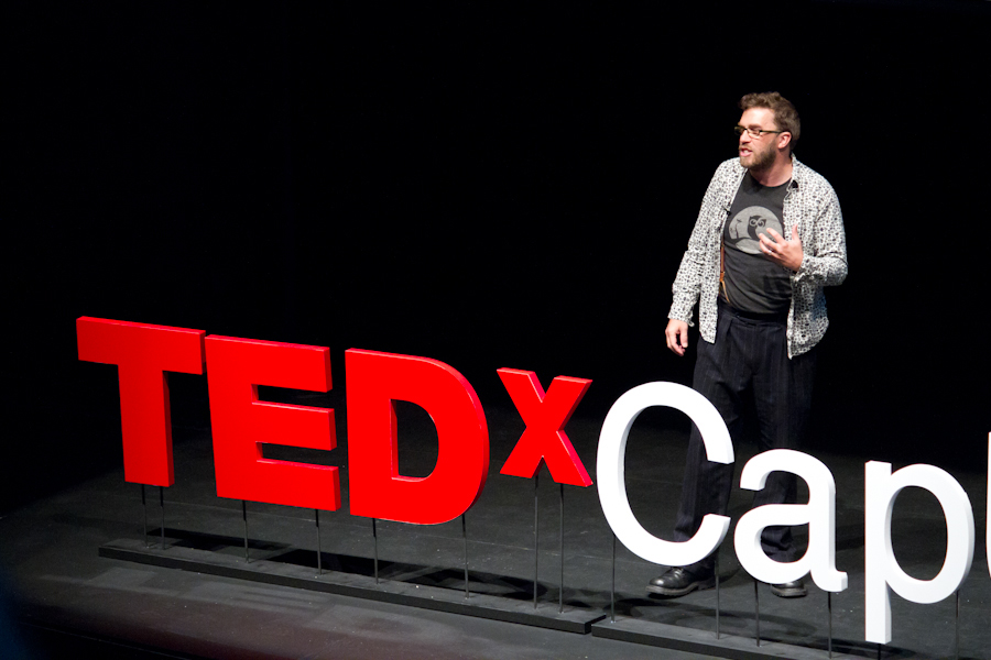 Dave Olson presenting at TEDx Capilano