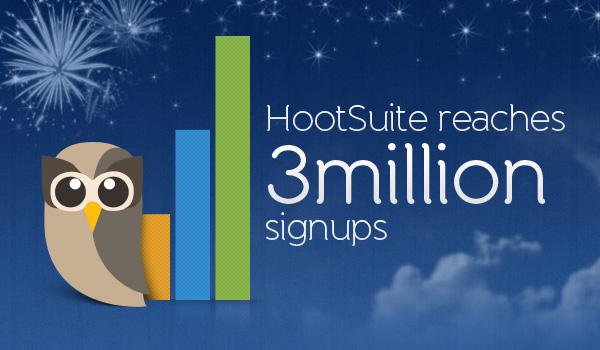 HootSuite Reaches 3 million Signups