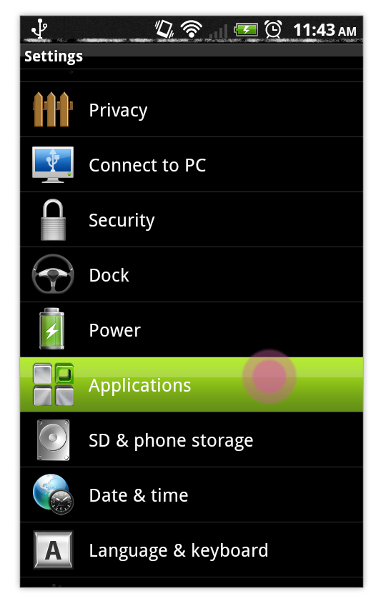Select Applications Android