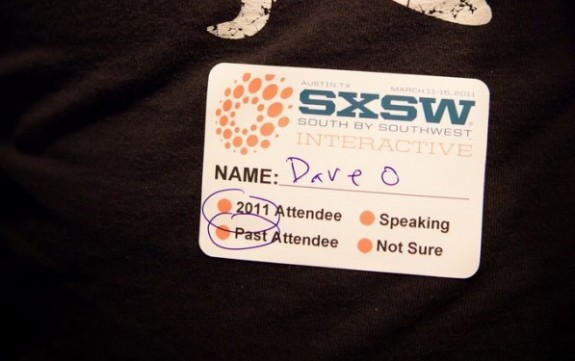 Dave Olson SXSW 2011 Name Tag