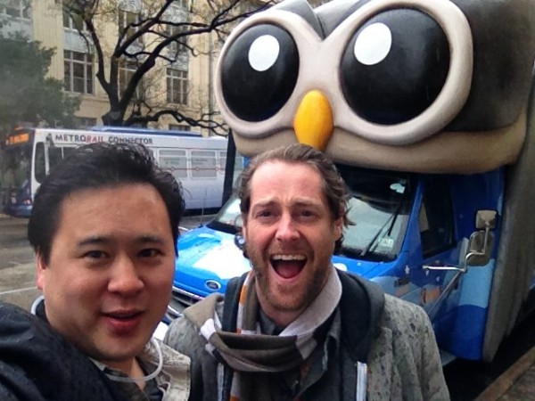 Jeremiah Owyang and Ryan Holmes with the HootBus