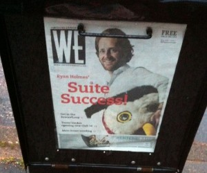 Ryan Holmes on the Cover of Westender