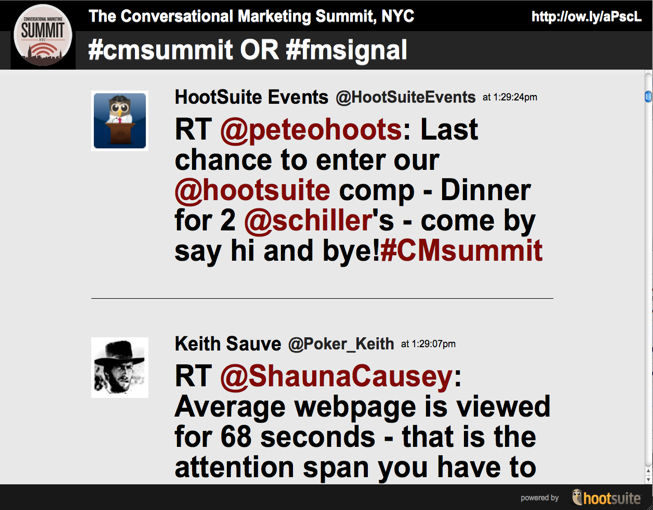 CMsummit HootFeed