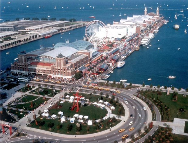 Chicago Pier is a tourist hotspot