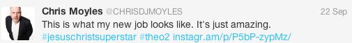 Chris Moyles Tweet