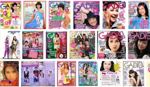 Majalah Gadis dari tahun ke tahun