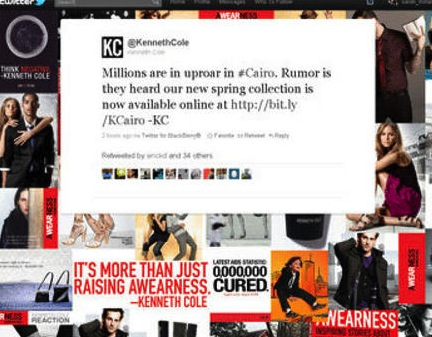 Kenneth Cole Disaster Tweet