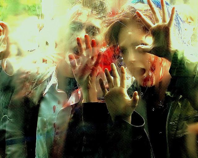 Zombie on glass - image via Bahman