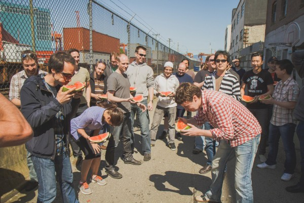 Watermelon-off in the back alley's of Railtown