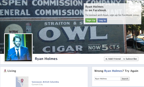 Ryan Holmes Facebook