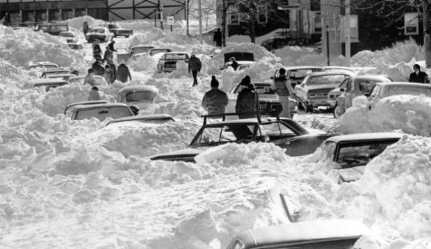 Recent destruction of the snowstorm Nemo. Image from The Inquisitr.