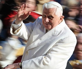 Pope Benedict resigns. Flickr image by cutup