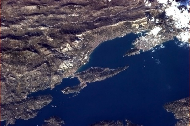 Croatia, as seen from space. Image by Commander Chris Hadfield