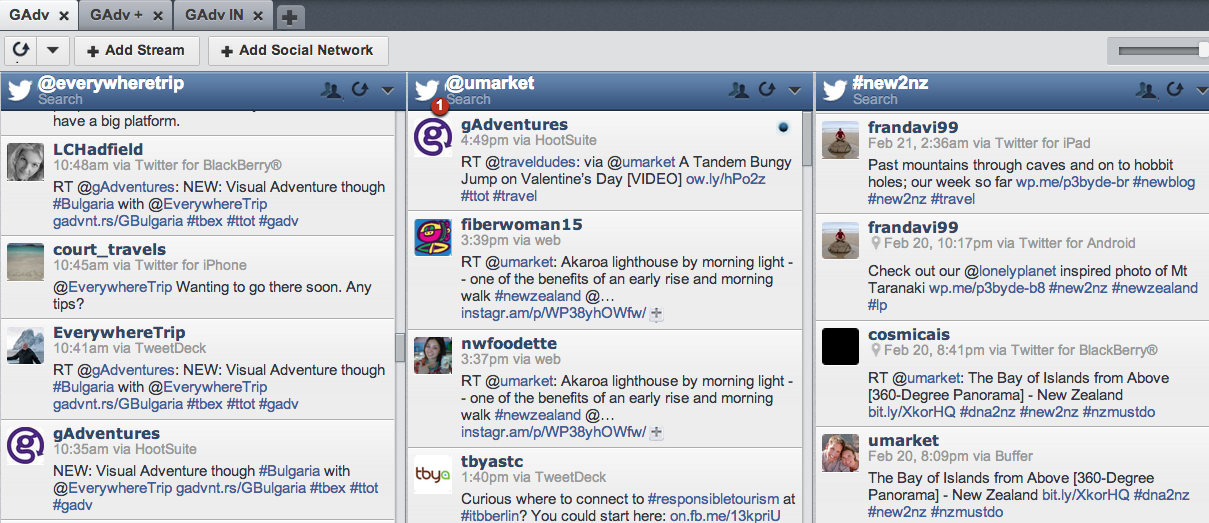 how to use hootsuite to find and follow twitter accounts