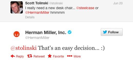 Herman Miller Tweet - cropped