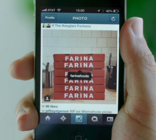 Instagram's new tagging functionalities will allow businesses to better engage users by asking them to tag photos of their product or service, like this pizza shop.