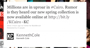 Kenneth Cole's infamous Twitter fail.