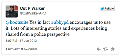 Police Officer work tweet - poll