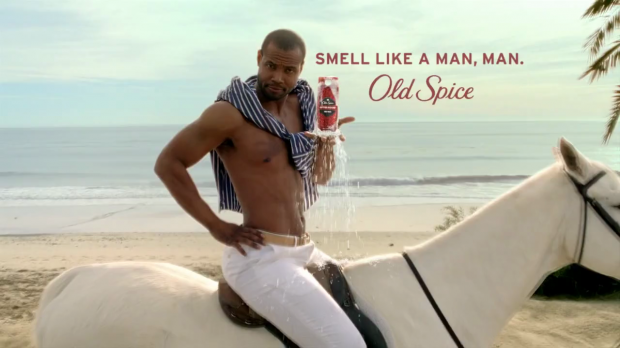 Everyone remembers this commercial, an iconic example of great visual storytelling. Screenshot courtesy of Old Spice.