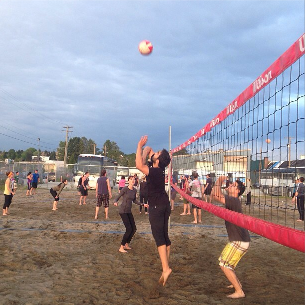 The HootSuite team is always a threat on the sand courts