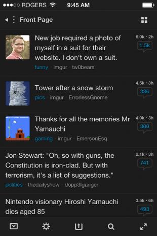 Reddit iOS7 App