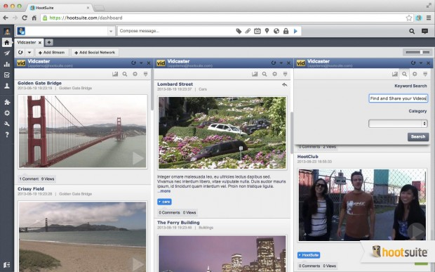 Easily view and share your Vidcaster videos across your social networks