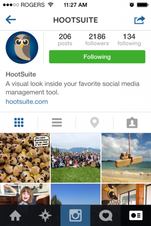 Instagram redesigned their platform along with iOS 7