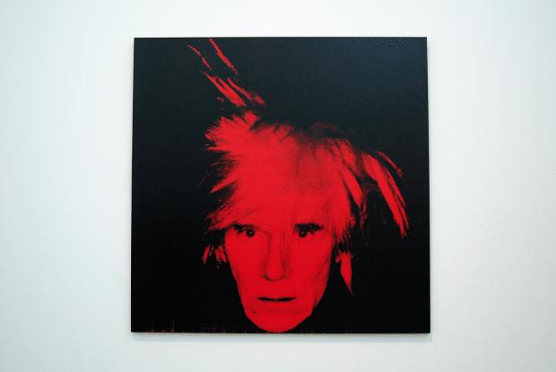 Andy Warhol self-portrait (1986). Image by jpellgen via flickr