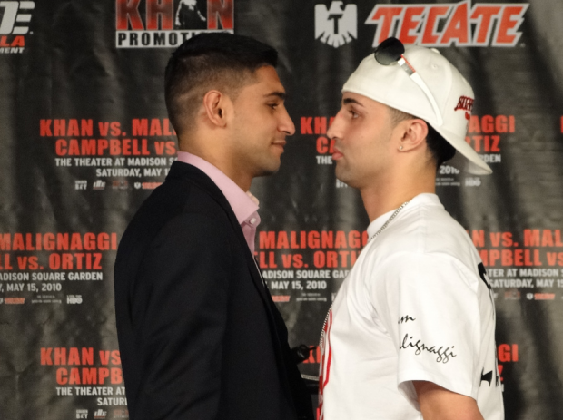 Khan/Malignaggi. Image by Bryan Horowitz via Flickr