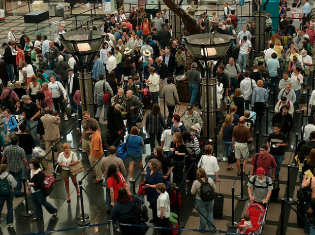Denver Airport Security Lines. Image by alist via Flickr