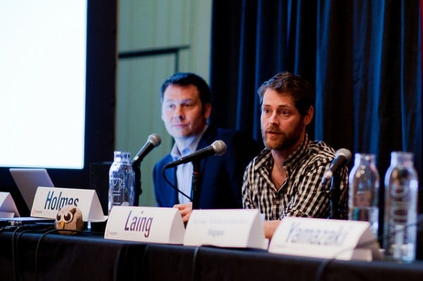 Ryan Holmes and Steve Mock at the 2011 SXSWi 'Big in Japan' panel.