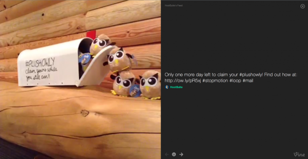 Take a look at HootSuite's Vine videos through TV Mode