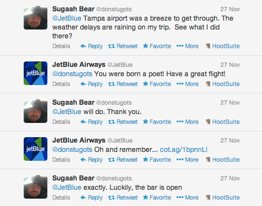 jetblue awesome convo