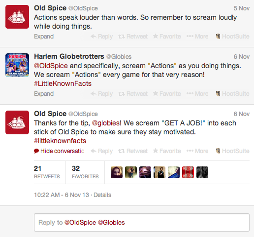 oldspice awesome convo