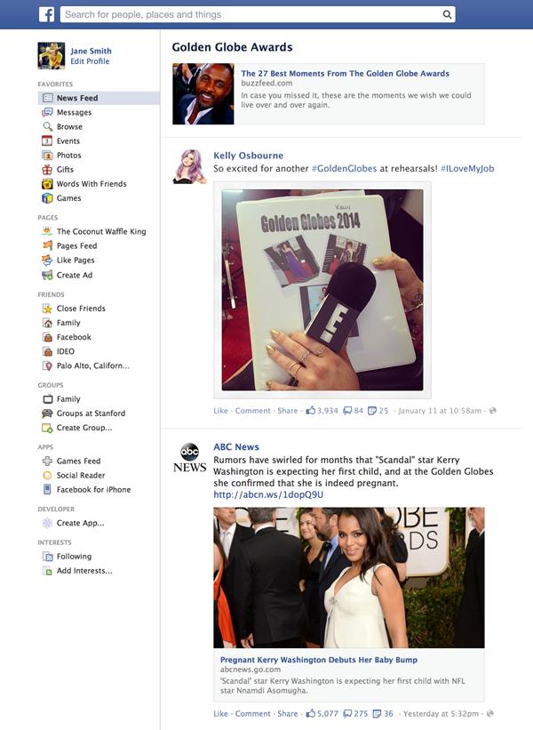 facebook 2014 trending 2