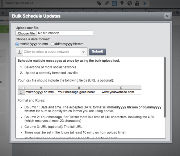 Community Management with Hootsuite's bulk scheduler