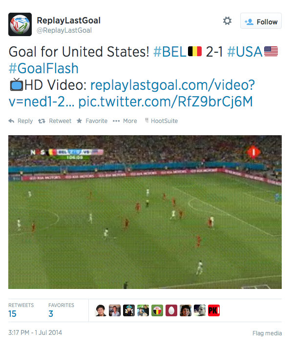 ReplayLastGoal Twitter World Cup