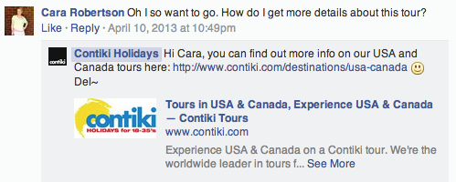 social media for tourism contiki holidays facebook strategy