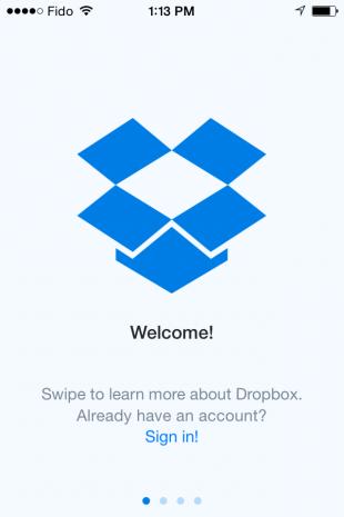 Dropbox mobile work app