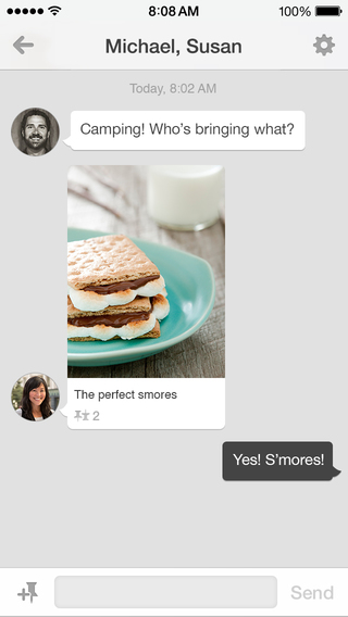 Pinterest Messaging App