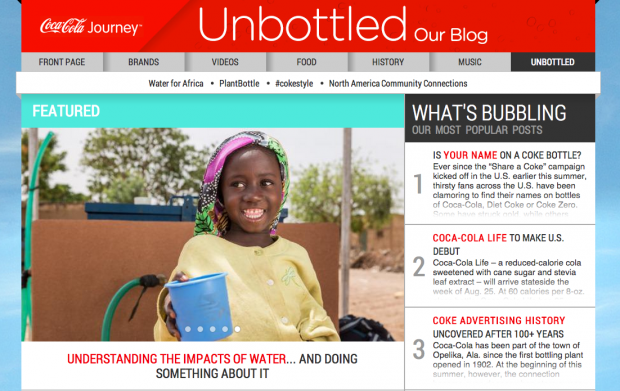 Coke Unbottled Blog